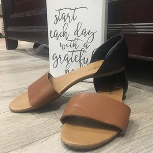 Black and brown sandals